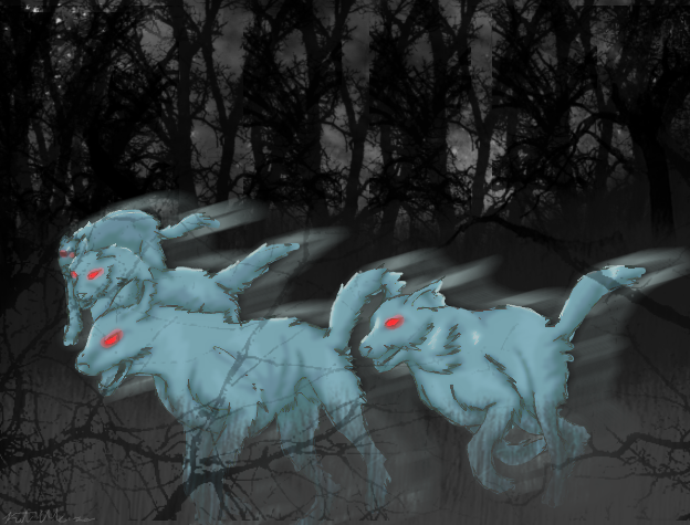 Cwn Annwn-The Spectral Hounds by Cinnamon-Stix