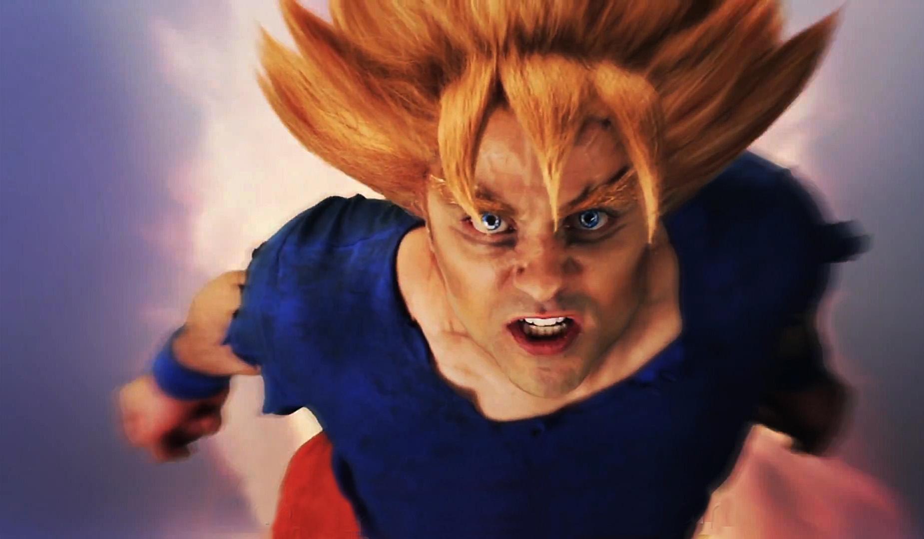 Real Life Goku Wallpaper (ERB Goku vs Superman) by ...
