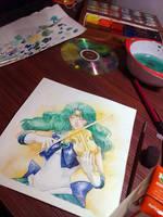 :WIP: Sailor Neptune by DavidPan