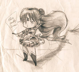 :Old Sketch: Chibi Sailor Pluto by DavidPan