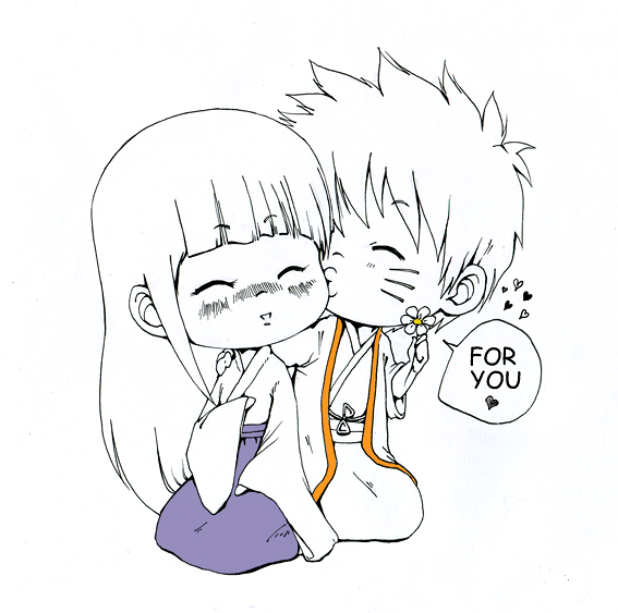 :Point Comm:  Hinata x Naruto by AtlanticaXLighthousE