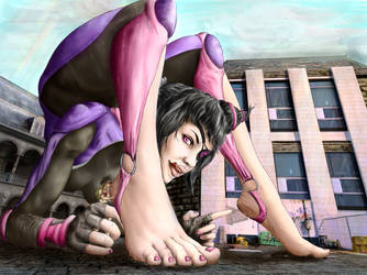 RQ - Juri, some Streetfighter streatch-party. by Toes2X5