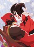 Deadpool with Harley Quinn by Hoenhaimm
