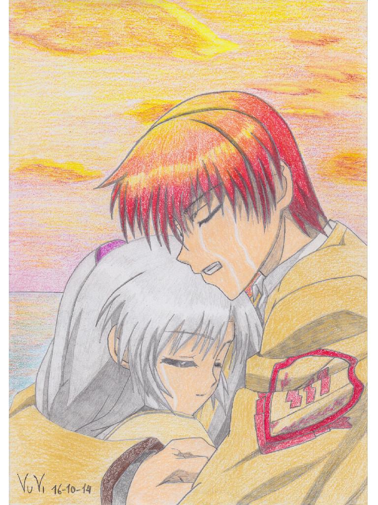 Angel Beats (Yuzuru and kanade) by Vuvi