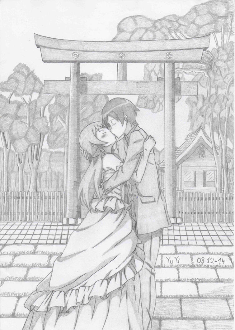 Oreimo ( Kyosuke and Kirino) by Vuvi