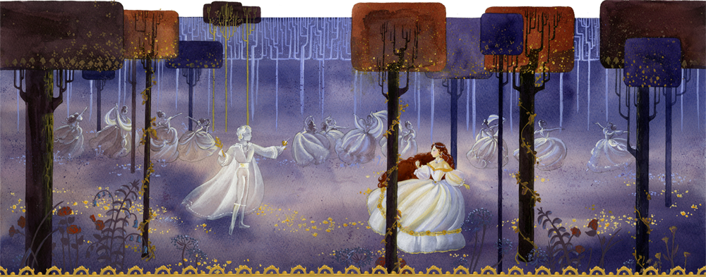 Twelve Dancing Princesses by mizu-shimma