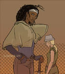 Michonne and Andrea
