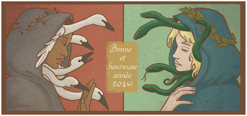 Swans and Snakes by Algesiras