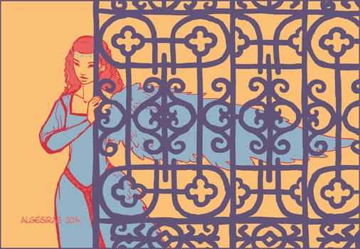 The golden cage (color palette)