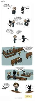 Pet Wendigo strip 27 - Suit - Part 1 by Algesiras