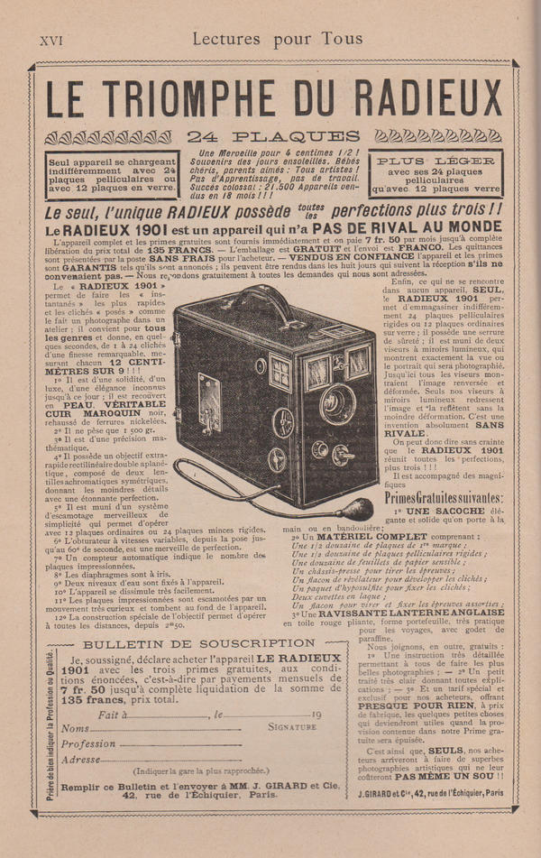 Stock - Antique vintage french ad - camera by Algesiras