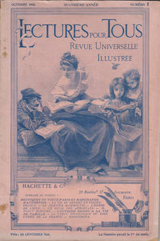 Stock - Antique vintage french magazine cover