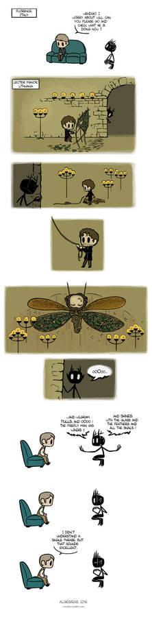 Pet Wendigo strip 28 - Firefly Man