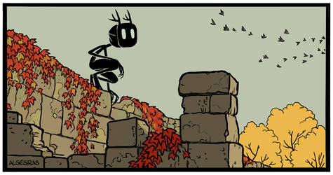 Wendigo in fall by Algesiras