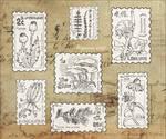 Inktober week 1 - vegetal stamps