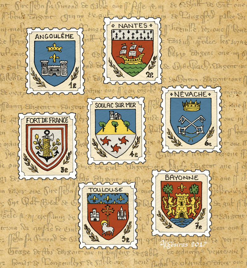 Inktober week 2 compilation - heraldry by Algesiras