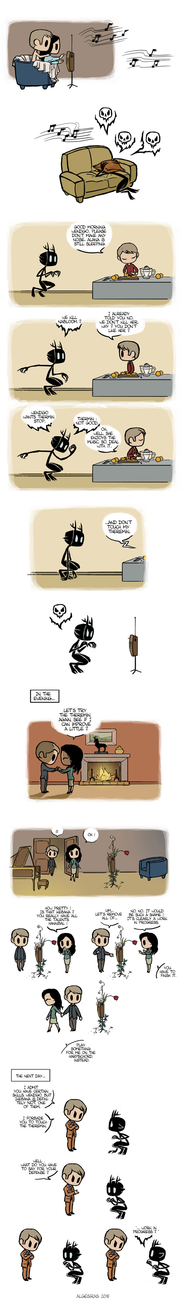 Pet Wendigo strip 30 - Ikebana by Algesiras