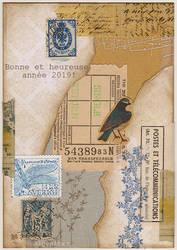 Oiseau bleu, libellule bleue by Algesiras