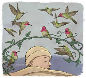 Anna's humingbirds