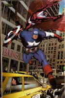 Capitain America and Falcon by comicsofjoebennett