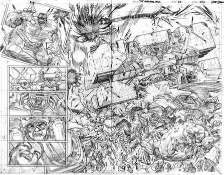 The Immortal Hulk # 20 Pages # 10-11 Pencils