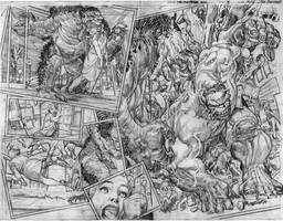 The Immortal Hulk # 18 Page # 14-15 Pencils