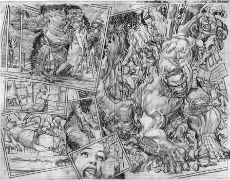 The Immortal Hulk # 18 Page # 14-15 Pencils