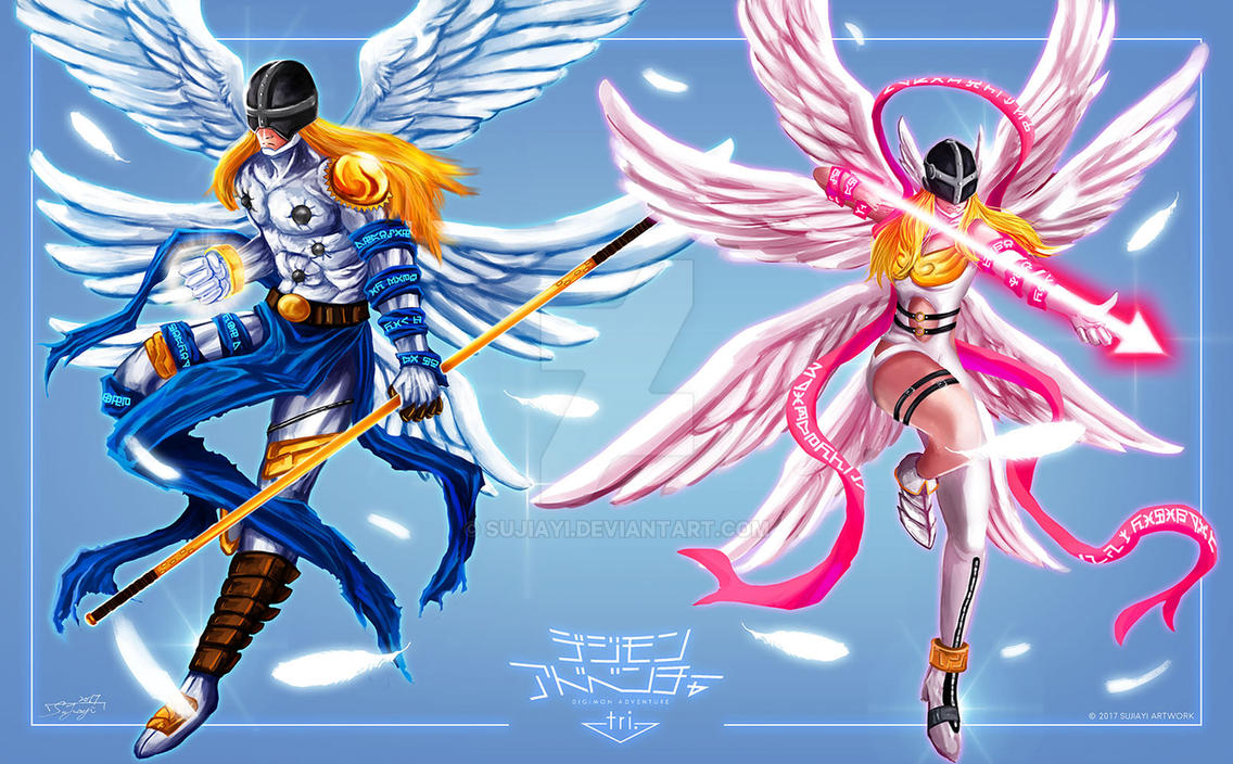 Digimon Angemon And Angewomon By Sujiayi On Deviantart
