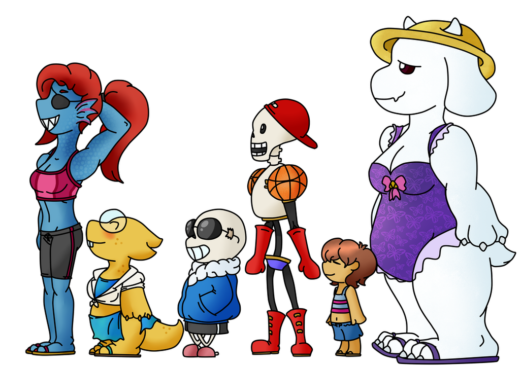 Undertale at the Beach by JoePhilliacTheBlack