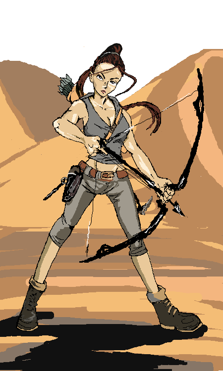 Sands of Time/Lara Croft by HanaKuraArt