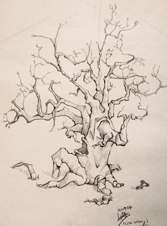 scary tree by dragenki on deviantart