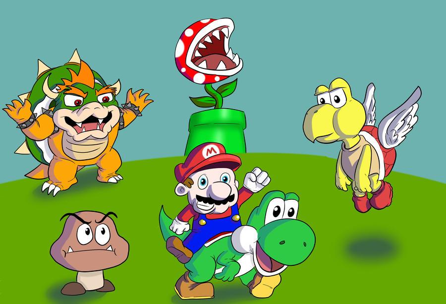 Mario World by OllieLamontagne