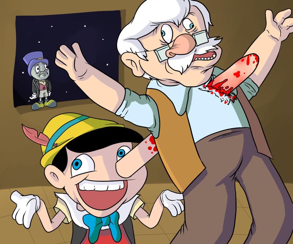 Pinocchio's Accident by OllieLamontagne