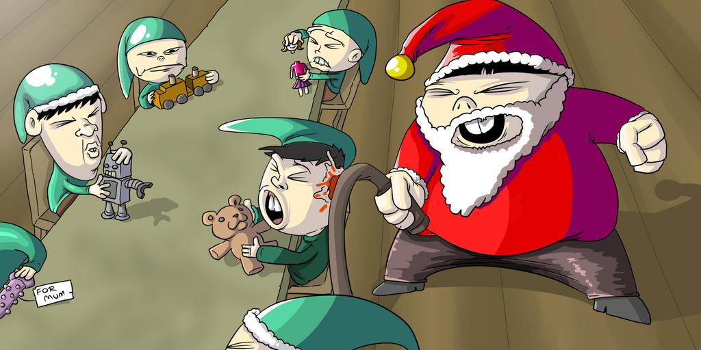 Christmas Elves by OllieLamontagne