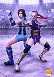 Asuka and Kunimitsu by SEL2