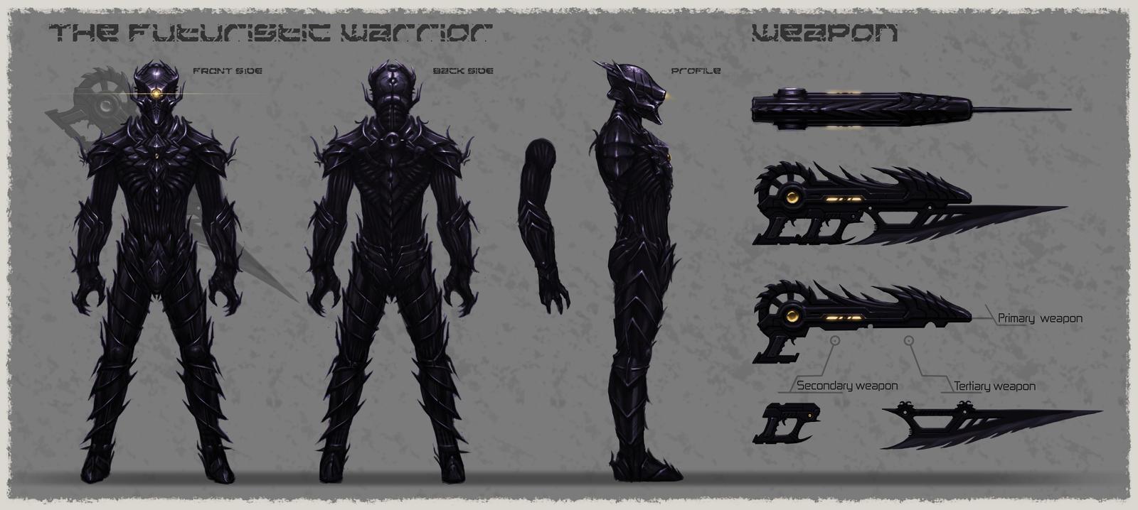 Anime Futuristic Warrior The futuristic warrior by sel2Anime Futuristic Warrior