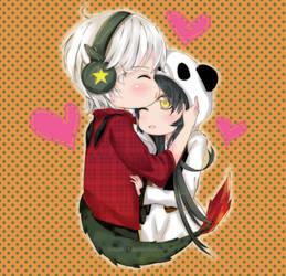 Naga Boy and Panda Hyul by hayati83