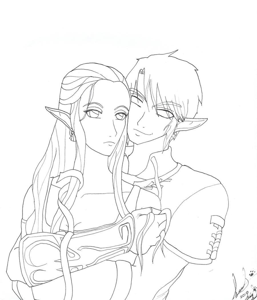 Dark Link Zelda Coloring Pages Sketch Coloring Page