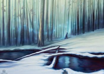 The Winter Stream by Angela-OHara