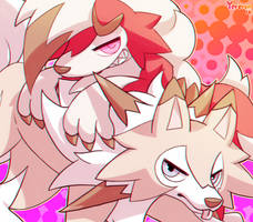 Lycanroc'ks by Yereren