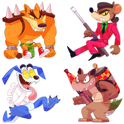 Crash Bandicoot: Enemies chibi set