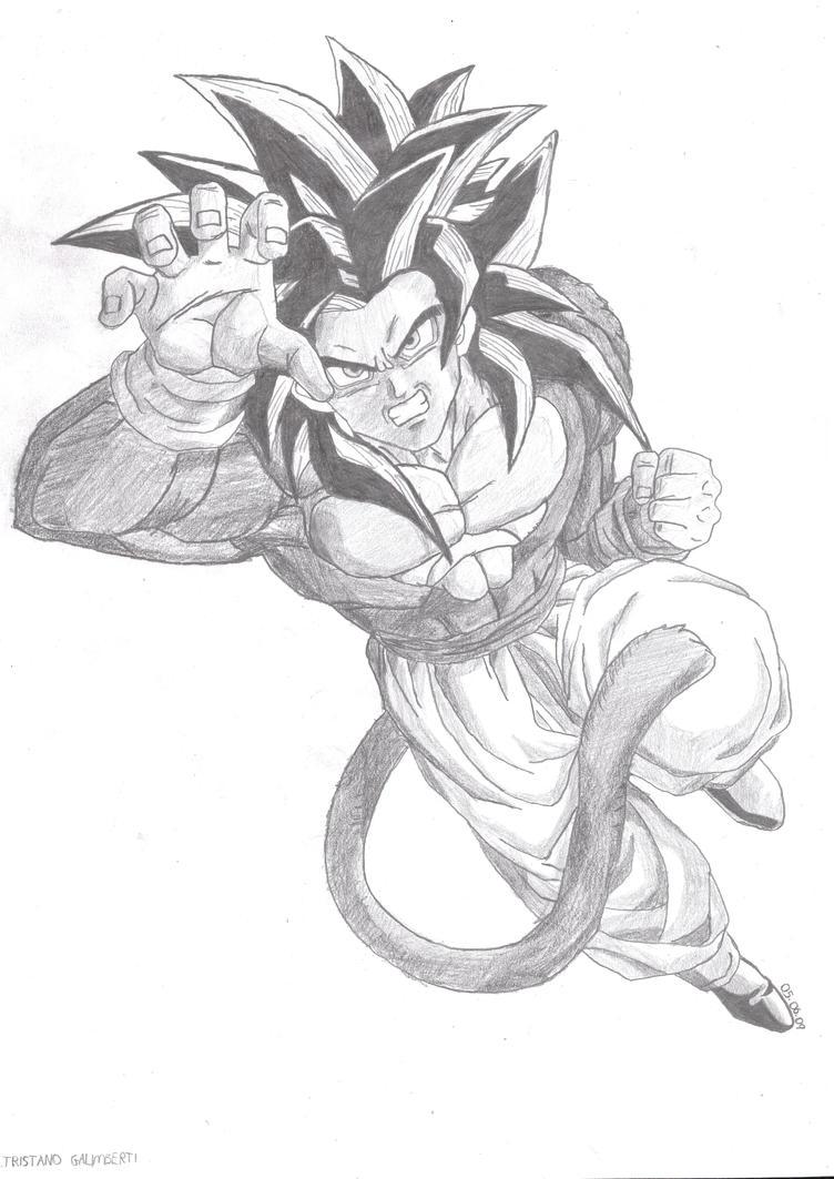 Super Saiyan 4 Goku By Barbicanboy On Deviantart How To Draw A Dragon Full  Body Solution