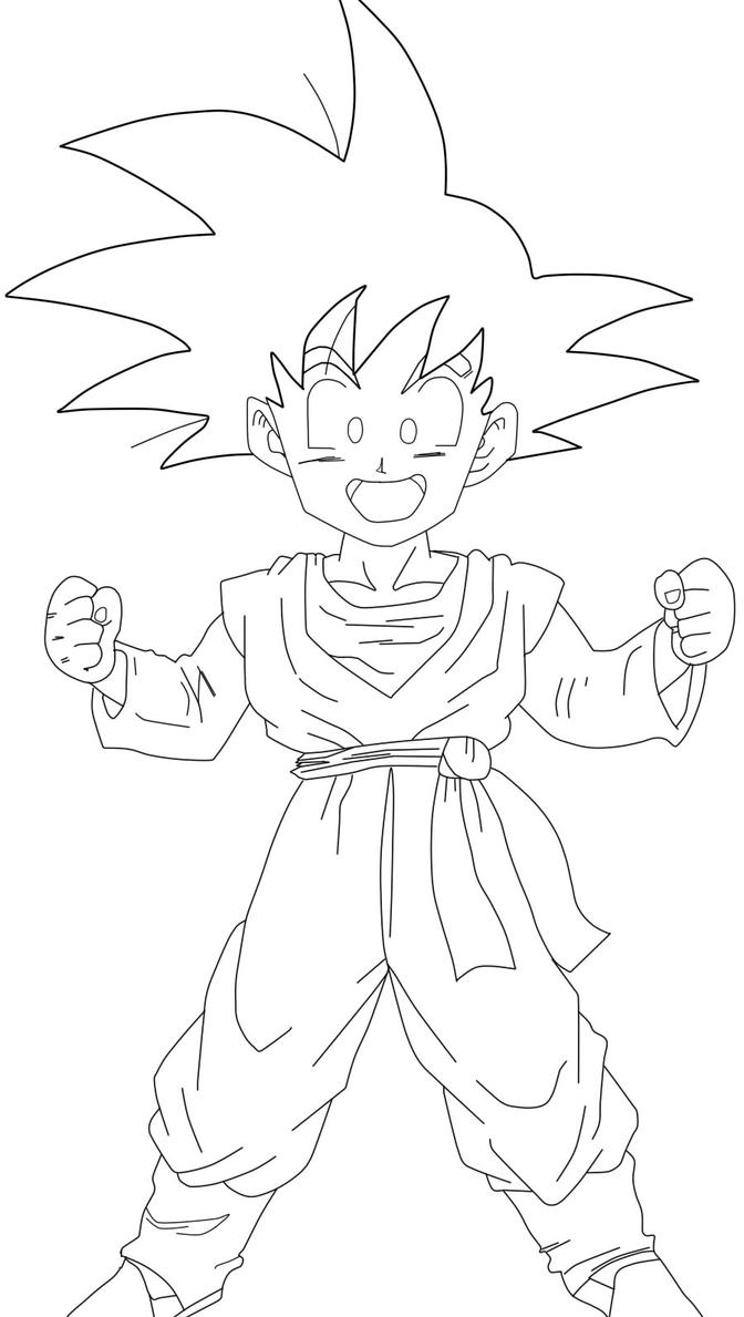 goten coloring pages - photo#1