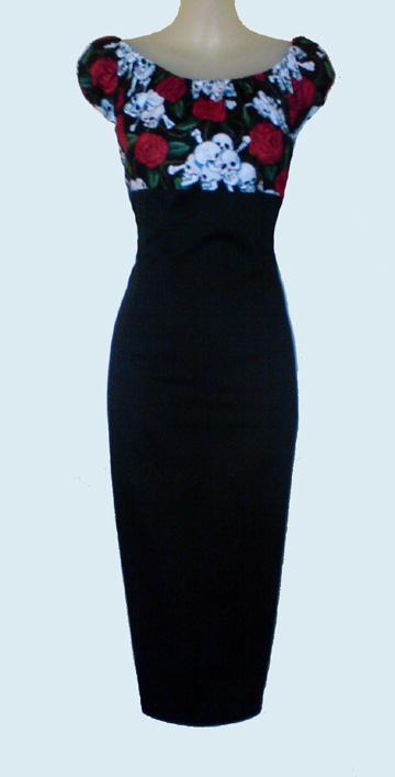 269704a874b6b Rockabilly Pin Up Tattoo Peasant wiggle Dress by Hourglassheaven on ...