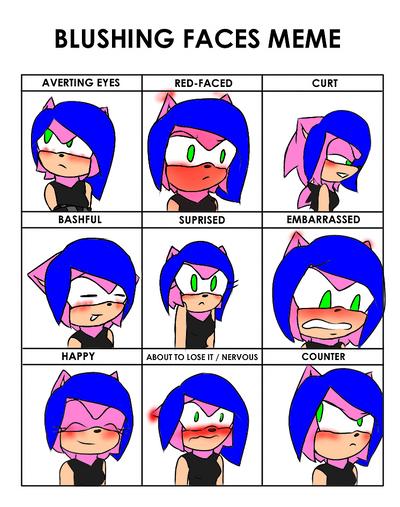 Blushing Faces Meme by SorayaHedgehog890