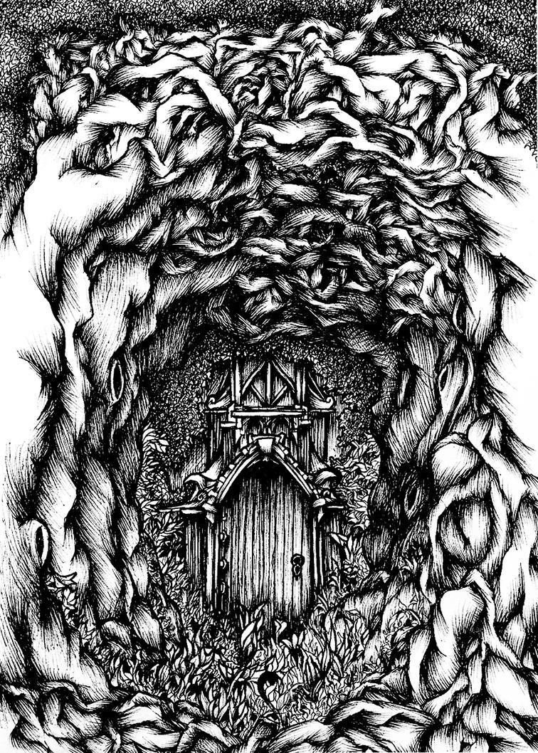 Lost in the Woods A5 Ink Drawing by shenj010