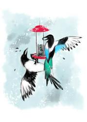 Magpies by DejaDrew