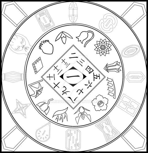 Bleach Mandala Lineart By Comixqueen On Deviantart