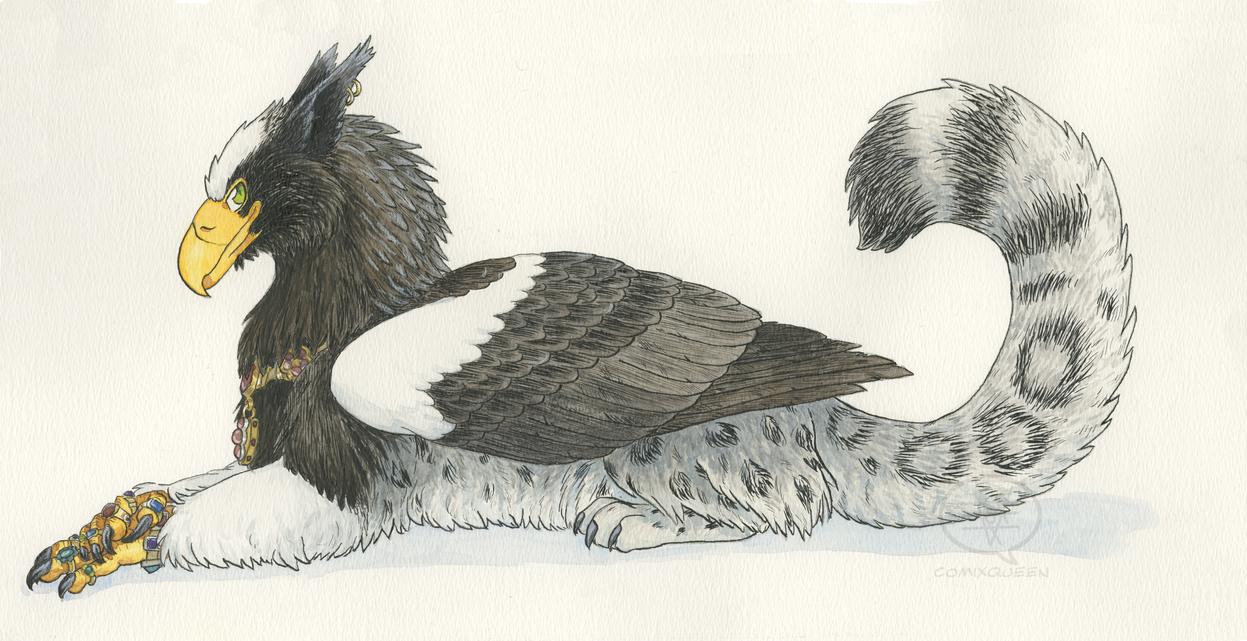 Fancy Griffin by comixqueen