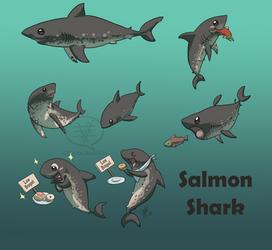 SHARK WEEK 2014 #3- Salmon by comixqueen